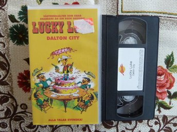 LUCKY LUKE, DALTON CITY, JESSE JAMES, VHS, SVENSKT TAL, VIDEOKASSETT, FILM