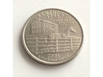 Mynt USA 2001 P KENTUCKY 25 cents 1/4 Dollar Quarter