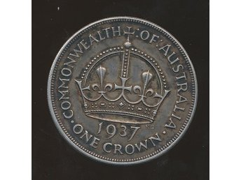 Australien 1937  1 Crown  se bild