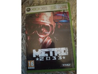 Xbox 360 spel METRO 2033 gamer shooting FPS krigspel aliens
