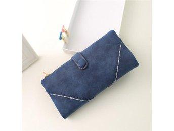 Läder Plånbok Handväska för Smartphone kort och pengar - Blå - Solna - Läder Plånbok Handväska för Smartphone kort och pengar - Blå - Solna