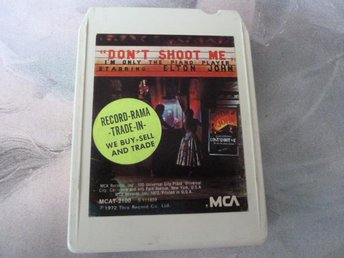 ELTON JOHN, DON'T SHOOT ME I'M ONLY THE PIANO PLAYER,  KASSETTBAND, 8-TRACK