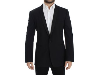 Dolce & Gabbana - Black wool stretch slim fit blazer