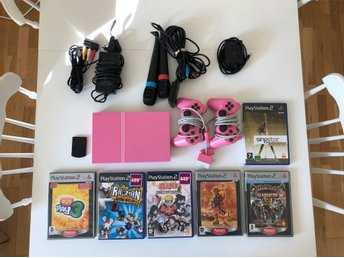 PlayStation 2 (PS2)  Rosa (Limited Pink Edition) Ovanlig retrokonsol för samlare