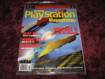 PLAYSTATION MAG NR 8 1999 MED DEMO CD (WIPEOUT 3,SILENT HILL) NY INPLASTAD
