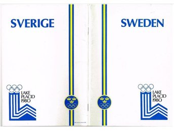 SWEDEN LAKE PLACID 1980 Media guide