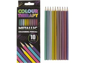 Colour Therapy 10-Pack Metallic Pennor, Måla, Rita, Relax