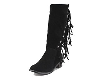 Dam Boots Bootines Mujer Lady Zipper Shoes Woman Black 41