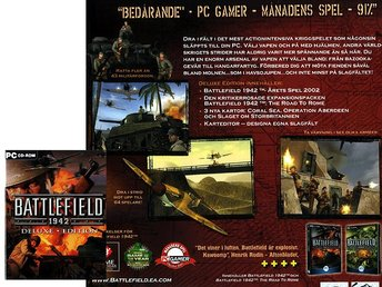 Battlefield 1942 + 1 st expansion / PC spel <---- JULKLAPP