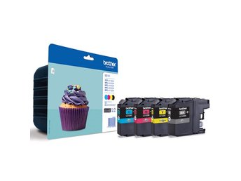 FP Brother LC123 Value Pack, Black, Cyan, Magenta, Yellow (600sid.)