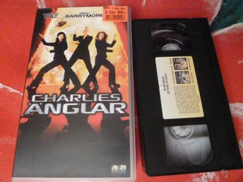 CHARLIES ÄNGLAR, SVENSK TEXT, ACTIONKOMEDI, FILM, VHS