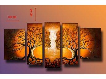 Abstrakt oljemålning på duk, 180x100 cm - Tollarp - Abstrakt oljemålning på duk, 180x100 cm - Tollarp