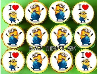 MINIONS - Tårtoblater - Cake toppers