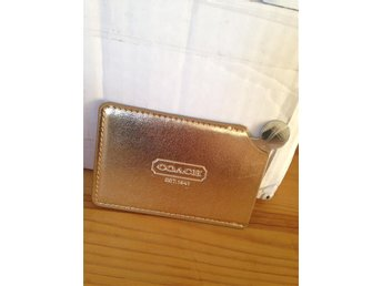 Coach pocket mirror / sminkspegel / gold colored sleeve