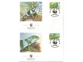 Tonga, Oceaniens Leguaner, World wildlife fund 1990, FDC
