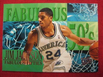 JIM JACKSON - FLEER ULTRA 1995-96 FABULOUS FIFTIES - BASKET