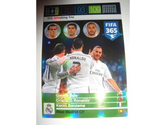 Panini Ad. XL FIFA 365 - Attacking Trio - BALE RONALDO BENZEMA - Real Madrid