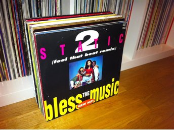 "[2x12""] 2 Static - Bless the Music 1991 TFL - Final Countdown 1993 (Europe)"
