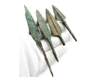 ROME of 4 Bronze Age Arrowhead - 64-101 mm (4)