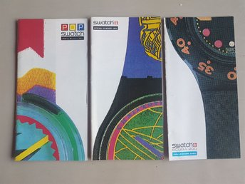 Swatch collection 1991 broschyr samlarsaker Schweiz Switzerland
