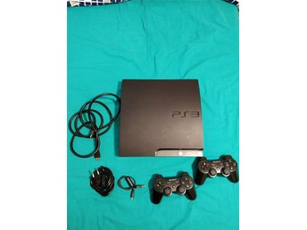 PlayStation 3 Slim 120GB + 9 spel + 2 handkontroller.