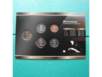 COLLECTION.  BAHAMAS DOLLARS. NYA MYNT. CERTIFIKAT.