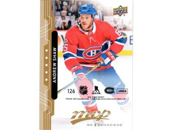2018-19 Upper Deck MVP 126 Andrew Shaw Montreal Canadiens Puzzle Back