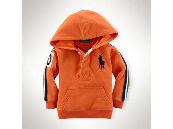 RALPH LAUREN POLO Orange Luvjtröja, Stl. 18 mån, Ny!