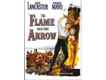 Flame and the Arrow (1950) Jacques Tourneur med Burt Lancaster, Virginia Mayo - Eskilstuna - Flame and the Arrow (1950) Jacques Tourneur med Burt Lancaster, Virginia Mayo - Eskilstuna