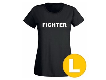 T-shirt Fighter Svart Dam tshirt L