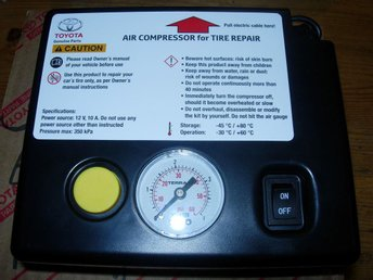 Ny Toyota Minikompressor 12V 10A 120W max 350kPa kompressor compressor airPrince - Torslanda - Ny Toyota Minikompressor 12V 10A 120W max 350kPa kompressor compressor airPrince - Torslanda