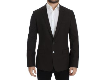 Dolce & Gabbana - Brown wool MARTINI slim fit blazer
