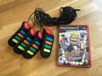 Buzz! Buzzer + The Hollywood Quiz PS2