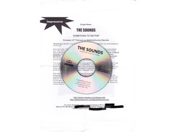 THE SOUNDS - Something to die for (Promo med pressrelease)  NY