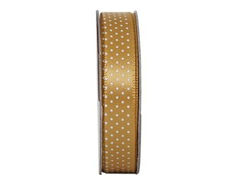 REA! Satinband - Spotted Golden Shine - 3 meter