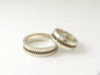 P37519** Två ringar i silver - Kristianstad - P37519** Två ringar i silver - Kristianstad