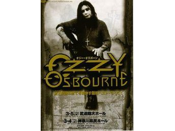 Ozzy Osbourne Japan flyer