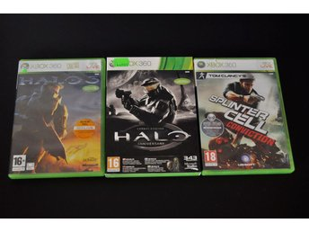 Halo 3,Halo Anniversary, Splintercell Conviction XBOX 360