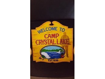 Friday the 13th movie camp crystal lake sign