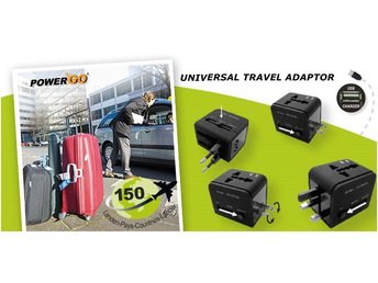 Power'nGo TA-300 | TA-500 UNIVERSAL TRAVEL ADAPTOR