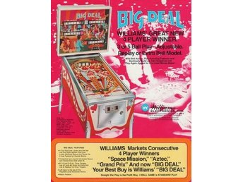 Original flyer Williams BIG DEAL