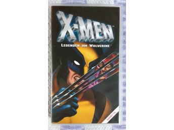 VHS X-MEN Legenden om Wolverine (Marvel 90-tal retro nostalgi)