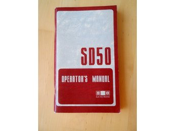 SD50 Operator's manual - Electro-motive division, General Motors Corporation