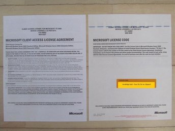 Client Access License Microsoft Terminal server 2003 (5 CAL)