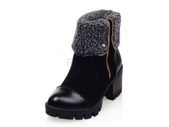 Dam Boots Woman Half Short Boots Shoes botas mujer black 41