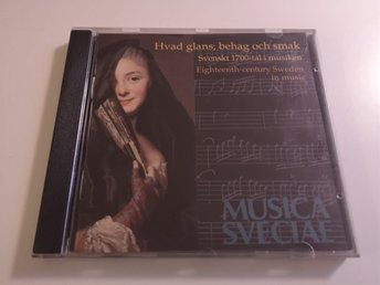 Music Sveciae - Hvad glans, behag och smak (Bellman, Körberg, Lena Willmark) CD