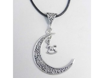 Gunghäst måne halsband / Rocking horse moon necklace