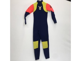 Gul wet suits, Våtdräkt, Strl: XL Junior, Mörkblå/Gul/Orange