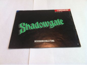 NES: Manualer: Shadowgate (End. manual -Tysk)