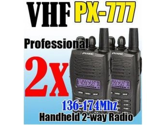 NEW 2st PX777 Walkie Talkie Jaktradio 5W/5-15km Rek.2988kr